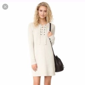 Madewell Ivory Knit Sweater Dress 100% Wool